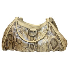 Gucci Python Leather D-Ring Tote