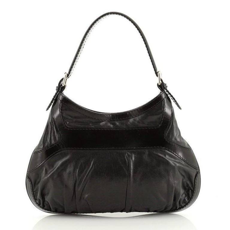 Gucci  Queen Hobo Leather Medium In Good Condition For Sale In New York, NY