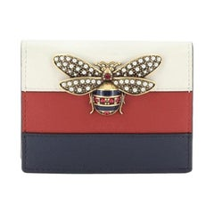 Gucci Queen Margaret Card Case Colorblock Leather