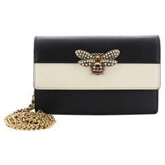 Gucci Queen Margaret Chain Wallet Leather Mini