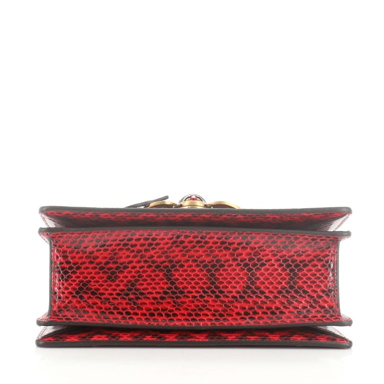 Gucci Queen Margaret Top Handle Bag Snakeskin Small  In Good Condition For Sale In New York, NY
