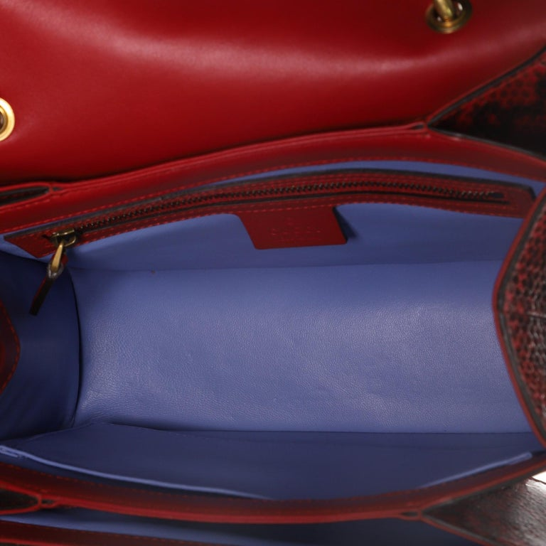 Women's or Men's Gucci Queen Margaret Top Handle Bag Snakeskin Small  For Sale