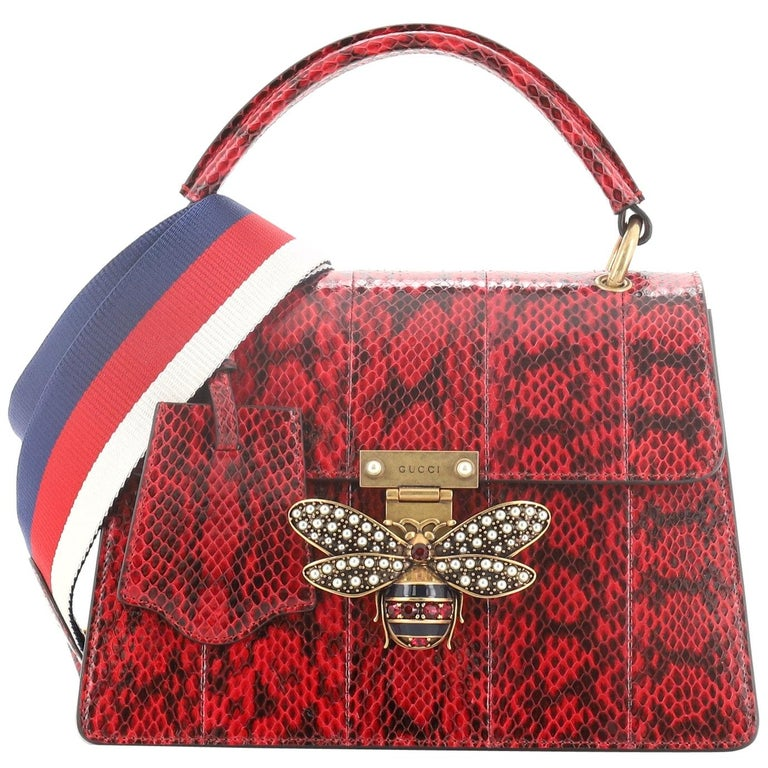 Gucci Queen Margaret Top Handle Bag Snakeskin Small  For Sale