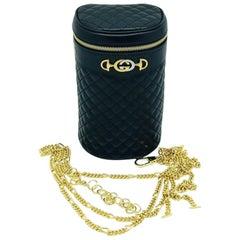 Gucci Quilted leather Black belt/shoulder bag - Leather - New