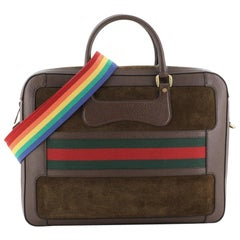 Gucci Rainbow Web Briefcase Suede