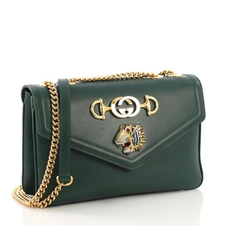 b76068315 Gucci Rajah Chain Shoulder Bag Leather Medium at 1stdibs