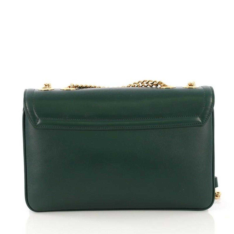 68ddcc55496f Gucci Rajah Chain Shoulder Bag Leather Medium at 1stdibs