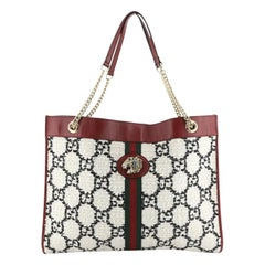 Gucci Rajah Chain Tote GG Tweed Large