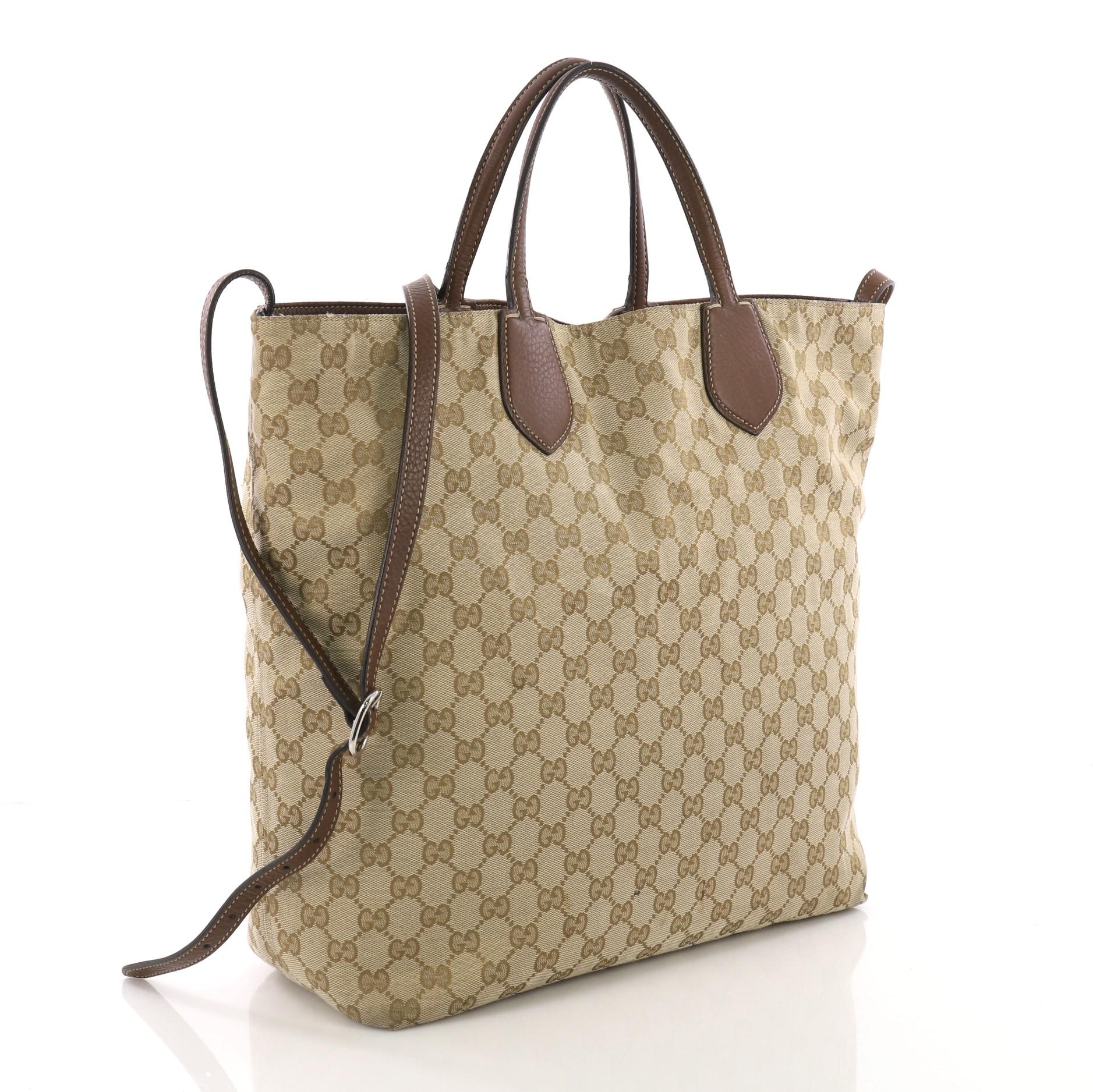 c6b737b98b51 Gucci Ramble Reversible Tote GG Canvas and Leather Large at 1stdibs