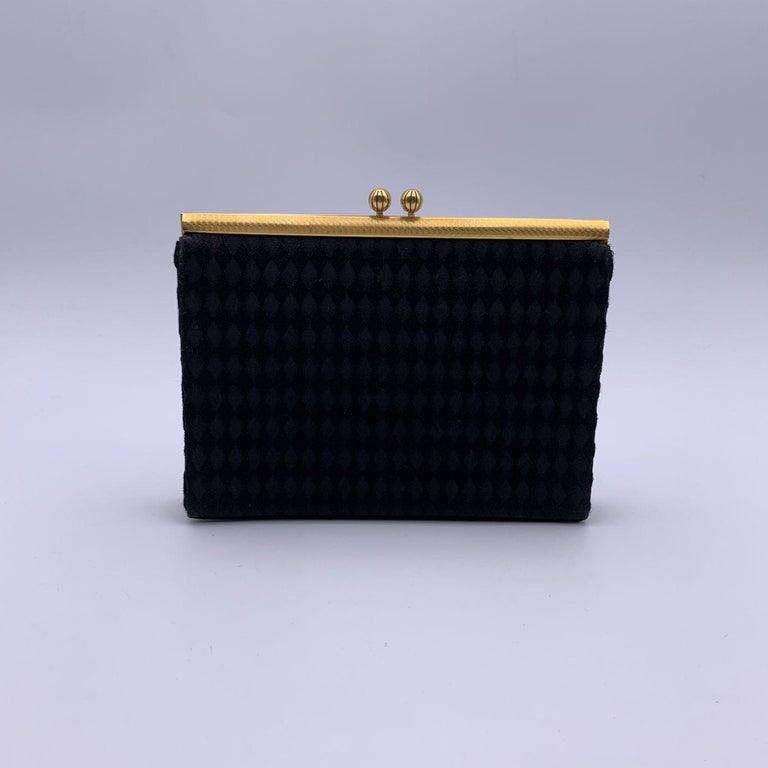 Women's Gucci Rare Vintage Black Satin Evening Bag Clutch Handbag For Sale