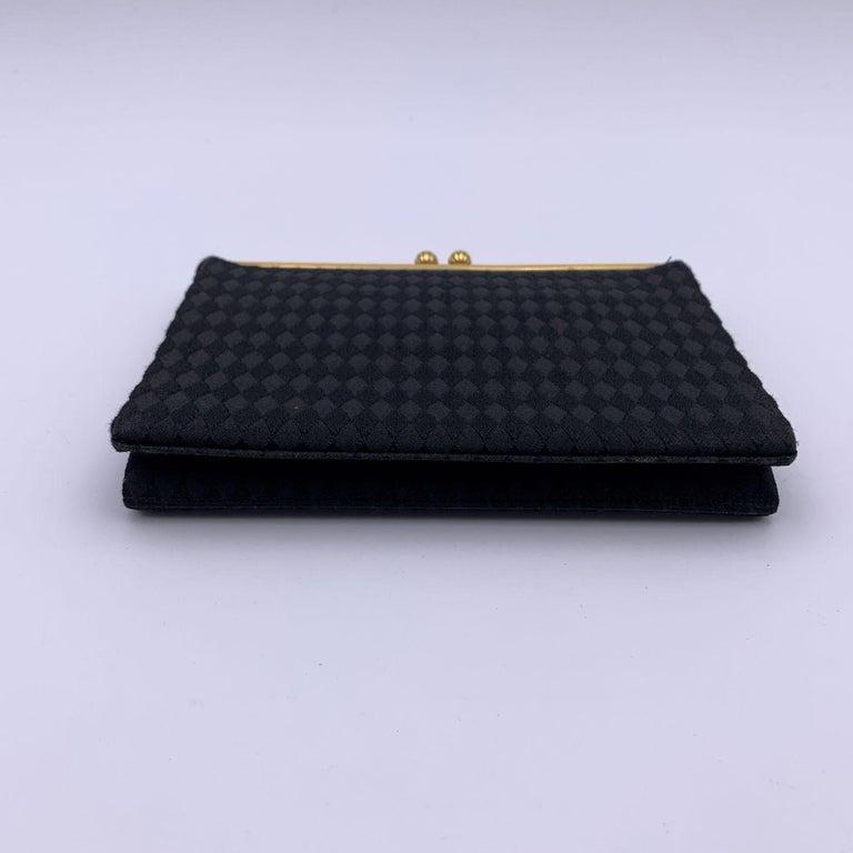 Gucci Rare Vintage Black Satin Evening Bag Clutch Handbag For Sale 1