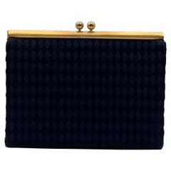 Gucci Rare Vintage Black Satin Evening Bag Clutch Handbag