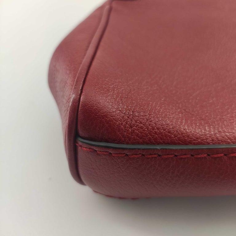 GUCCI Rebelle Shoulder bag in Red Leather For Sale 7