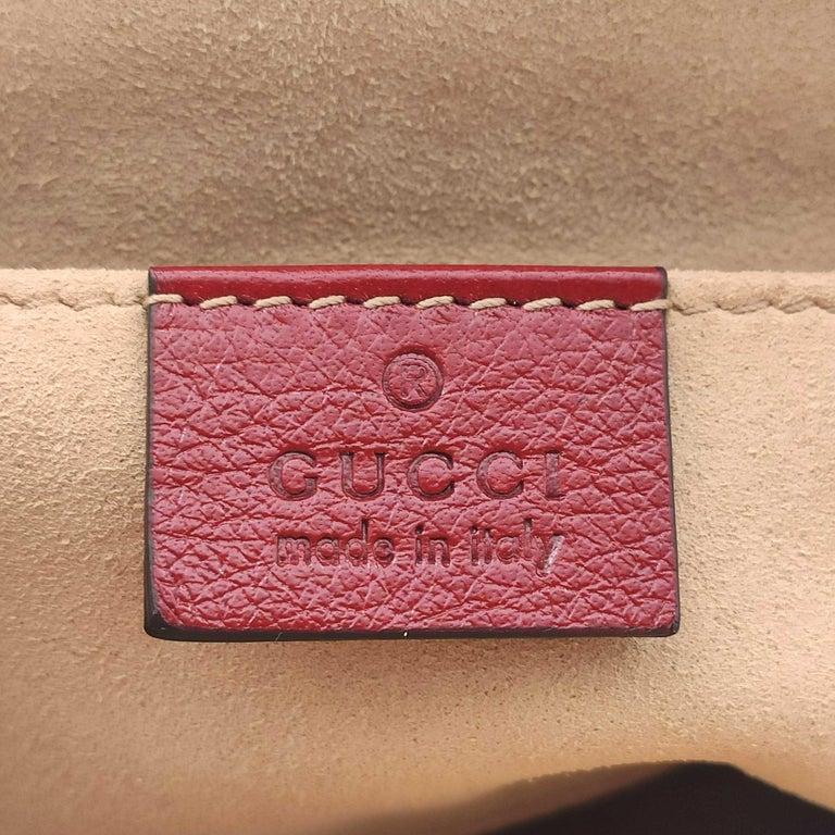 GUCCI Rebelle Shoulder bag in Red Leather For Sale 1