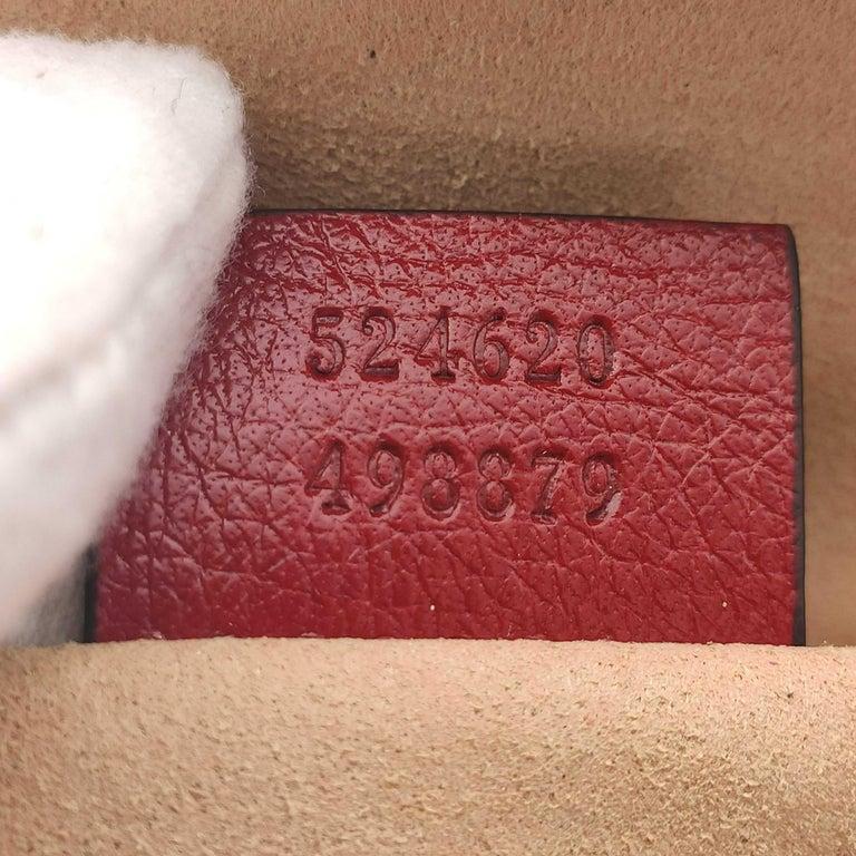 GUCCI Rebelle Shoulder bag in Red Leather For Sale 2