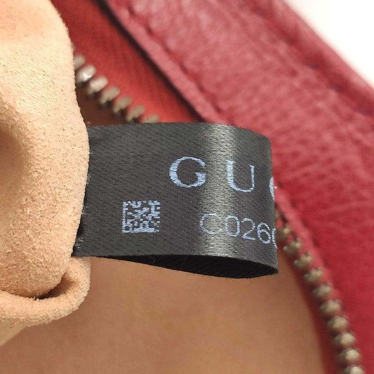 GUCCI Rebelle Shoulder bag in Red Leather For Sale 3