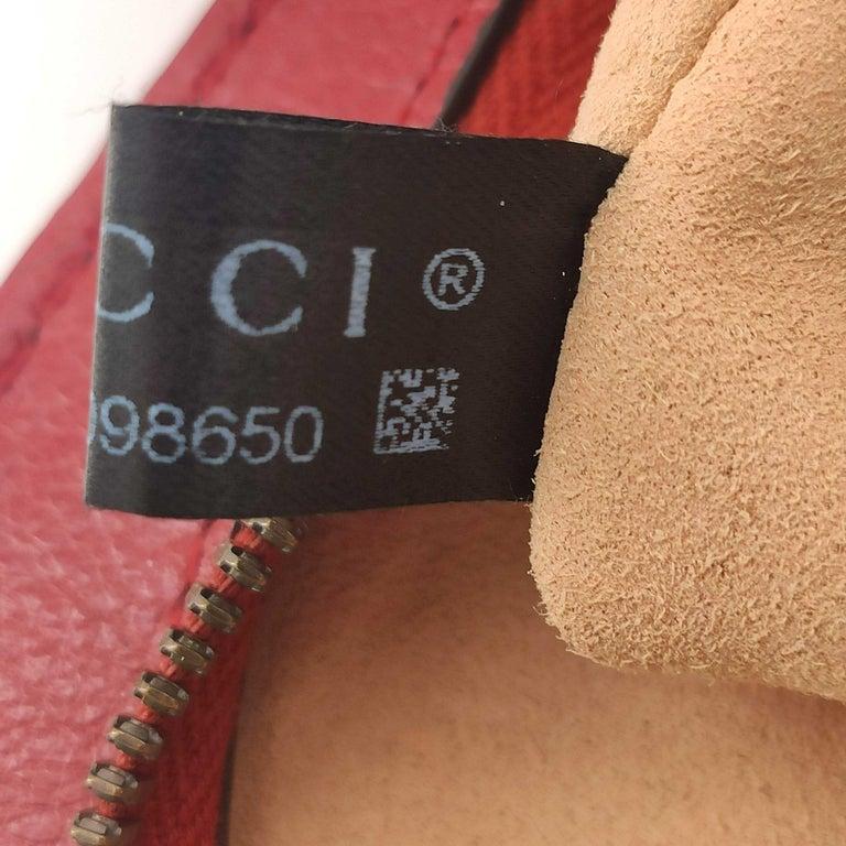 GUCCI Rebelle Shoulder bag in Red Leather For Sale 4