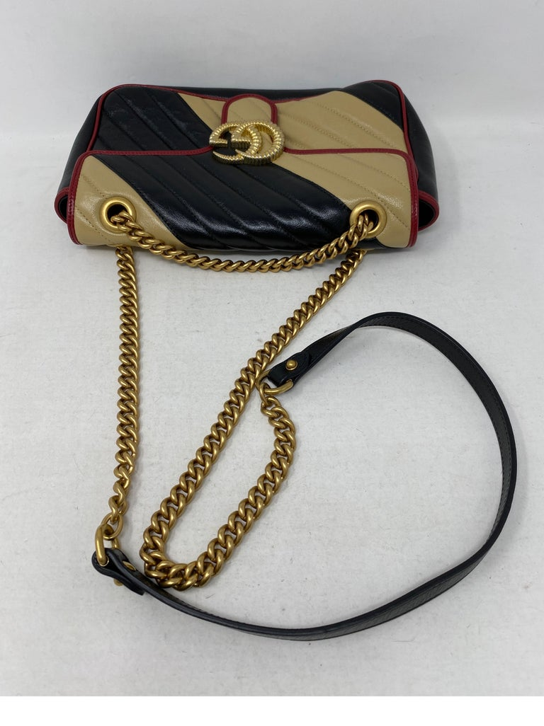 Gucci Red and Black Marmont Bag  For Sale 6