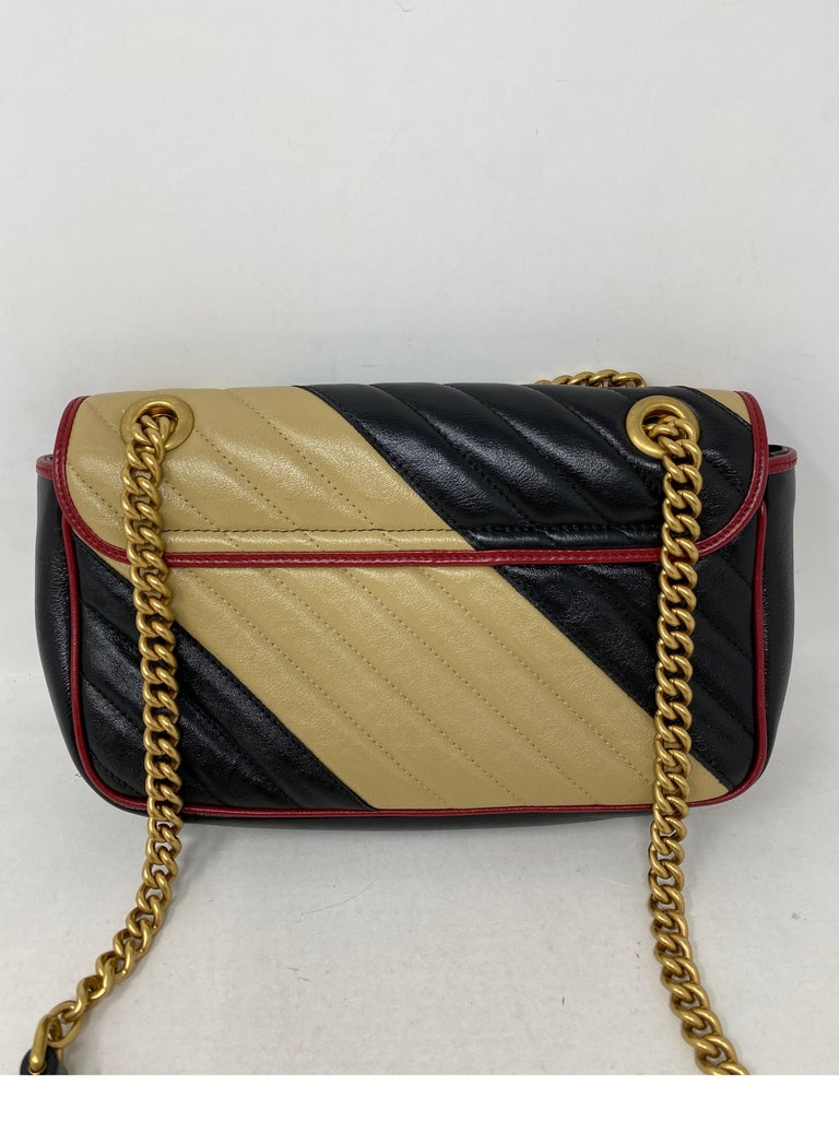 Gucci Red and Black Marmont Bag  For Sale 7