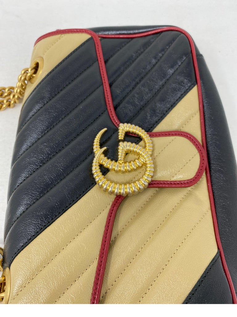 Gucci Red and Black Marmont Bag  For Sale 8