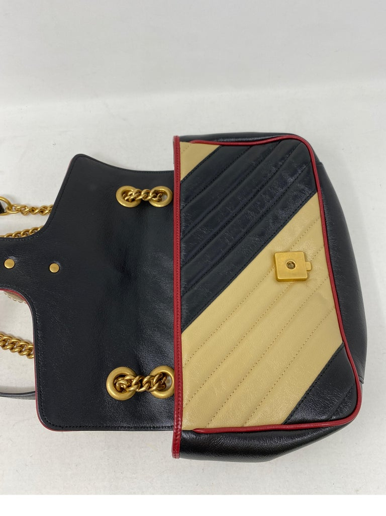 Gucci Red and Black Marmont Bag  For Sale 9