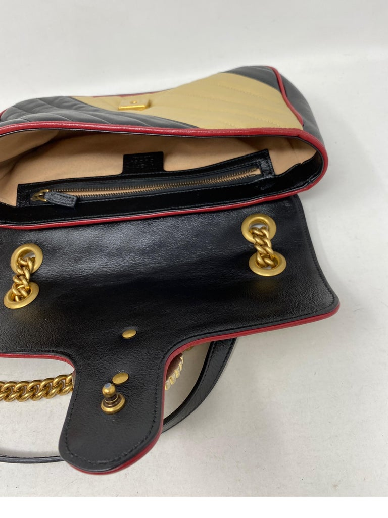 Gucci Red and Black Marmont Bag  For Sale 10