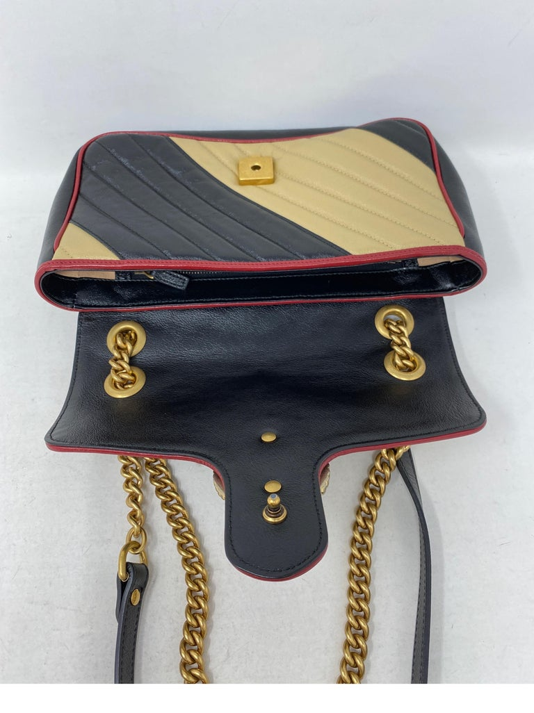Gucci Red and Black Marmont Bag  For Sale 12