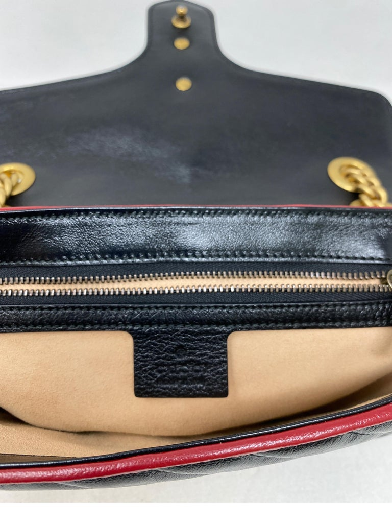 Gucci Red and Black Marmont Bag  For Sale 14