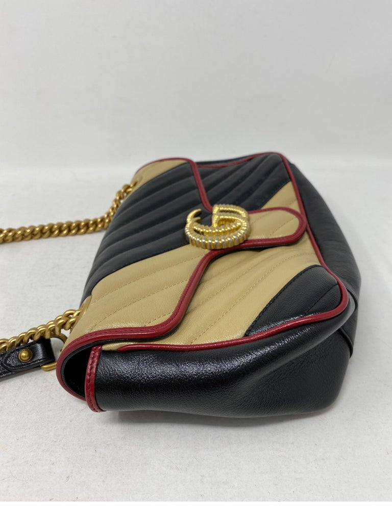 Gucci Red and Black Marmont Bag  For Sale 2