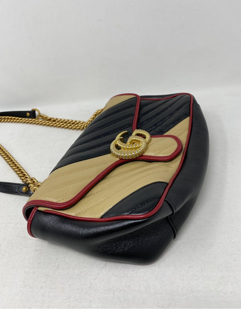 Gucci Red and Black Marmont Bag  For Sale 3
