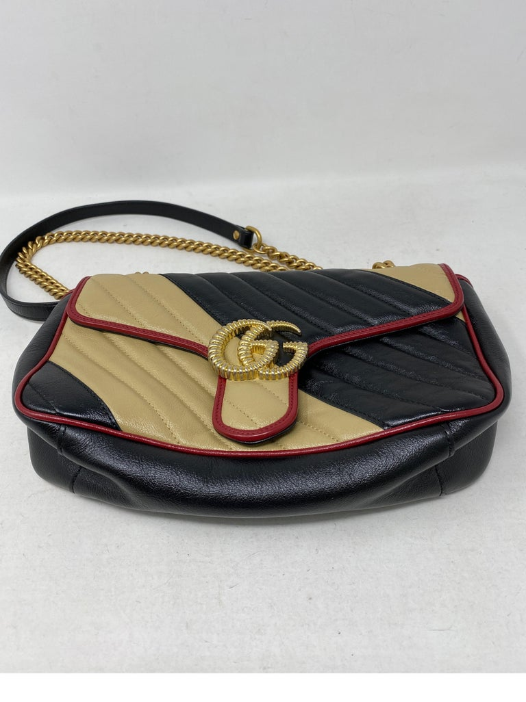Gucci Red and Black Marmont Bag  For Sale 4