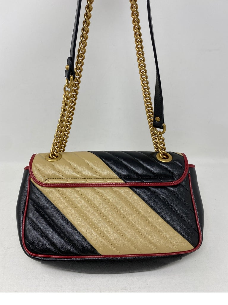Gucci Red and Black Marmont Bag  For Sale 5