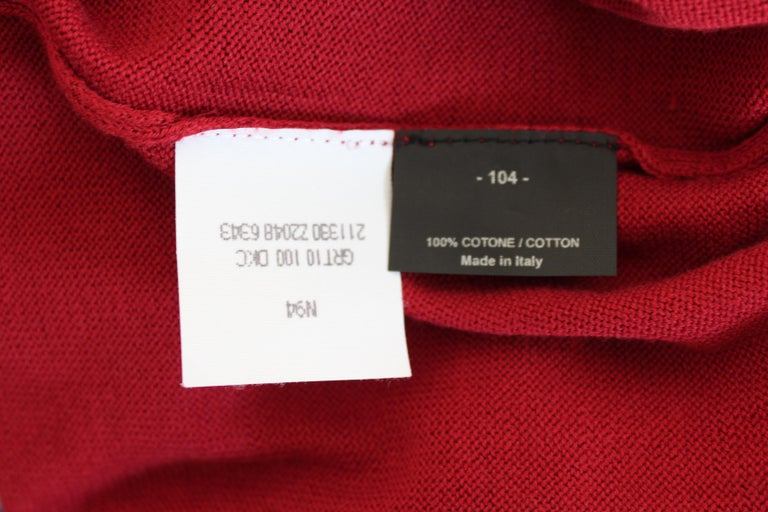 Gucci Red Blue Cotton V Neck Classic Sweater For Sale 4