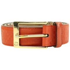 295862b8375 Gucci Red Embossed Guccissima Imprime 1ggty223 Size 42 Belt