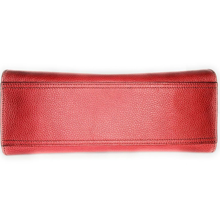 Women's Gucci Red GG Marmont Top Handle Bag For Sale