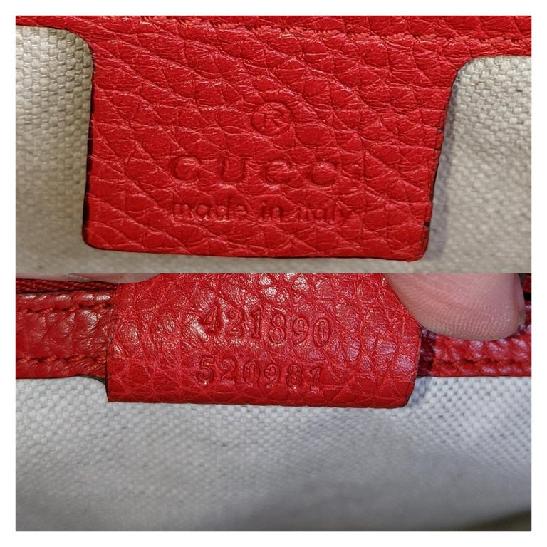 Gucci Red GG Marmont Top Handle Bag For Sale 3