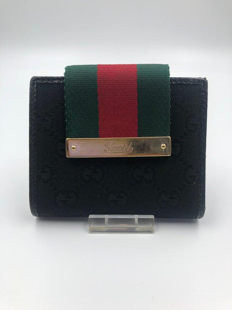 71fd11cc5f5aa Gucci Red & Green Stripe Small Wallet