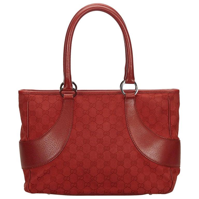 97552af5225 Gucci Red Guccissima Canvas Handbag at 1stdibs