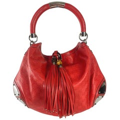 Gucci Red Guccissima Leather Large Babouska Indy Hobo