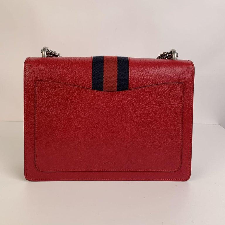 Gucci Red Hibiscus Leather Dionysus Medium Shoulder Bag For Sale 4