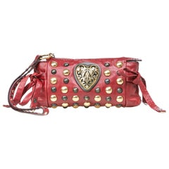 Gucci Red Hysteria Studded Clutch Bag