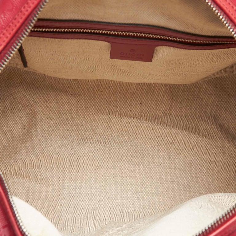 9d170a318831 Gucci Red Imprime Guccissima Boston Bag For Sale 1