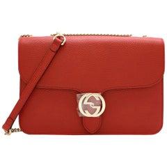 Gucci Red Interlocking GG Shoulder Bag