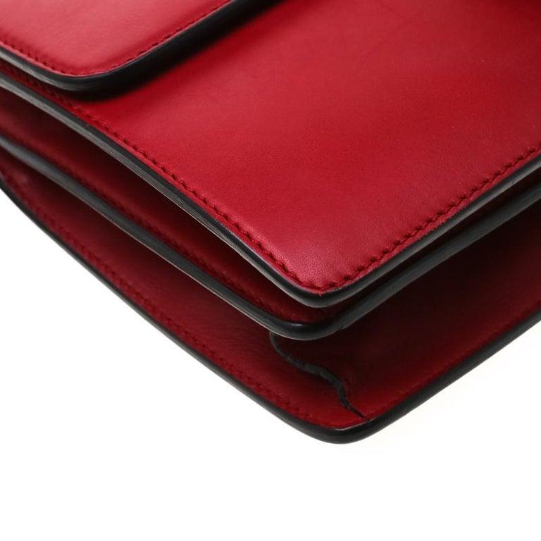 Gucci Red Leather Animalier Shoulder Bag For Sale 7