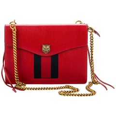 Gucci Red Leather Cross Body Bag