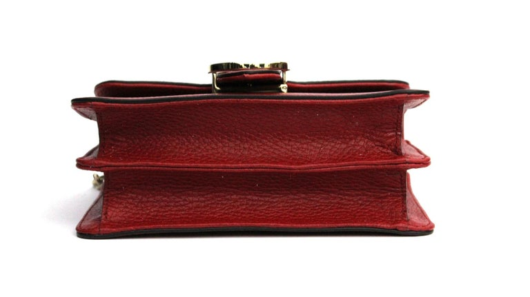 Women's Gucci Red Leather Crossbody Bag For Sale