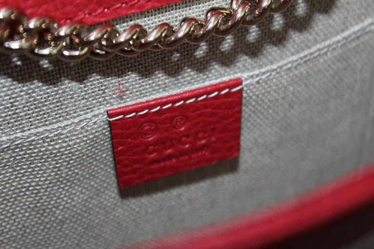 Gucci Red Leather Crossbody Bag For Sale 1