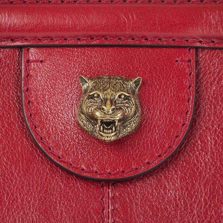 GUCCI red leather RE(BELLE) LARGE Top Handle Shoulder Bag For Sale 1