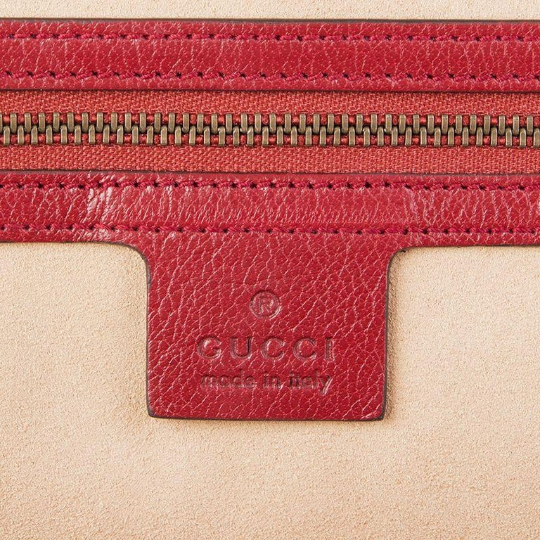 GUCCI red leather RE(BELLE) LARGE Top Handle Shoulder Bag For Sale 2