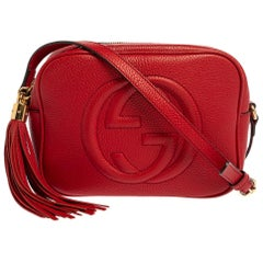 Gucci Red Leather Soho Disco Shoulder Bag